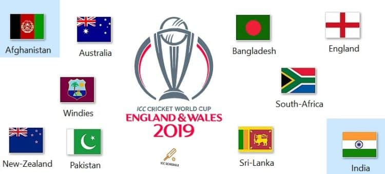 ICC World Cup 2019 Fixtture & Match Details