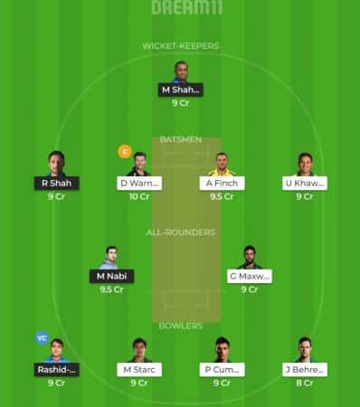 ICC Cricket World Cup 2019 Match 4: Afghanistan vs Australia Dream11
