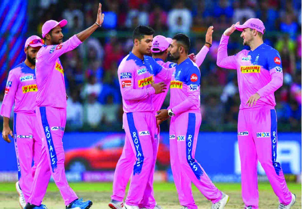 Rajasthan Royals(RR) celebrating wicket.