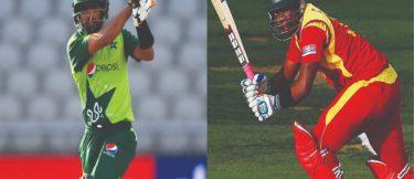Babar Azam and Chamu Chibhabha(1st T20I)