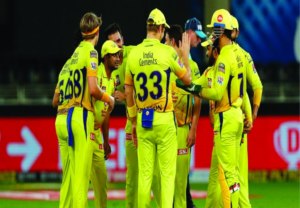 Chennai Super Kings(CSK) celebrating after wicket