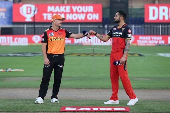 David Warner and Virat Kohli(SRH vs RCB)
