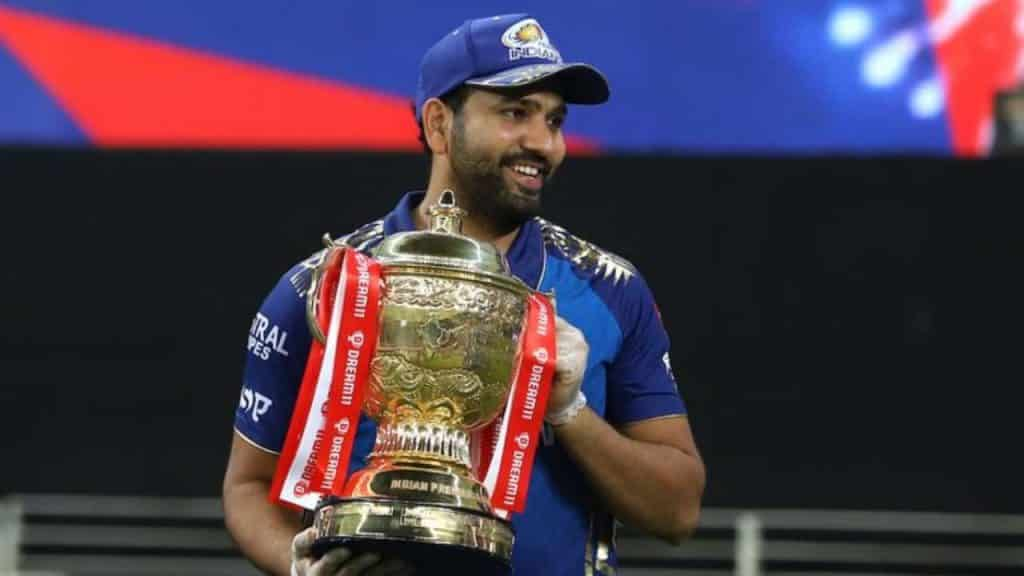 Rohit Sharma with Dream11 IPL 2020 Trophy.