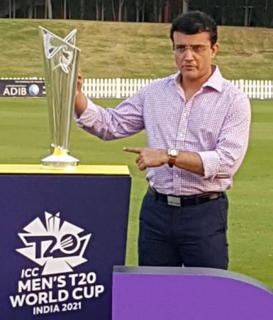 Sourav Ganguli with T20 World Cup India Announcement event
