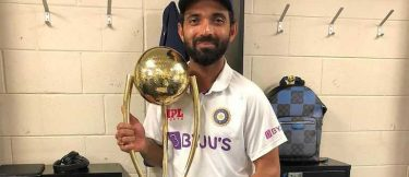 Ajinkya Rahane received a grand welcome upon arriving India by wife and daughter