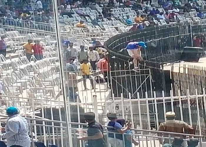 India vs England 2nd Test: Fan breaches the bio-bubble of the players during the lunch