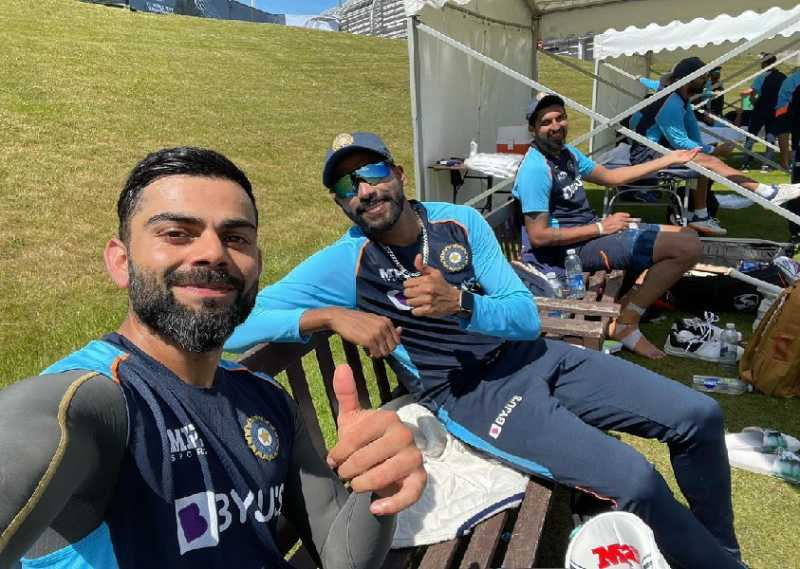 ICC WTC Final: Virat Kohli shares a quick picture with Siraj and Ishant amid practice sessions