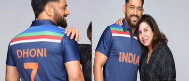 Latest MS Dhoni images in India's retro jersey, play football along with Ranveer Singh and Shreyas Iyer