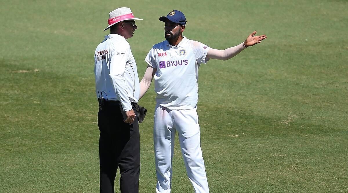 Siraj and Umpire