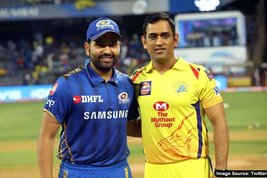 Rohit Sharma (Mumbai Indians) and MS Dhoni (Chennai Super Kings).